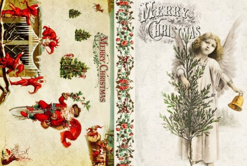 Christmas Decoupage paper for craft projects